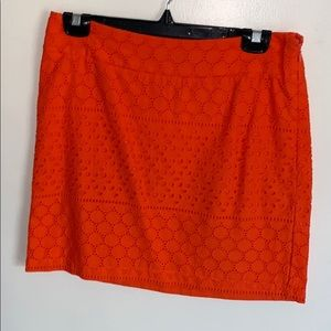 Banana Republic skirt in size 4, orange